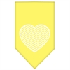 Mirage Pet Products Chevron Heart Screen Print Bandana Yellow Large