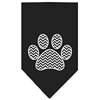 Mirage Pet Products Chevron Paw Screen Print Bandana Black Small