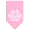 Mirage Pet Products Chevron Paw Screen Print Bandana Light Pink Large