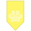 Mirage Pet Products Chevron Paw Screen Print Bandana Yellow Small