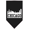 Mirage Pet Products Chicago Skyline Screen Print Bandana Black Large