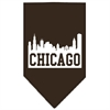 Mirage Pet Products Chicago Skyline Screen Print Bandana Cocoa Large