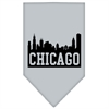 Mirage Pet Products Chicago Skyline Screen Print Bandana Grey Large