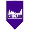 Mirage Pet Products Chicago Skyline Screen Print Bandana Purple Large