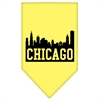 Mirage Pet Products Chicago Skyline Screen Print Bandana Yellow Large