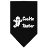 Mirage Pet Products Cookie Taster Screen Print Bandana Black Large