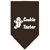 Mirage Pet Products Cookie Taster Screen Print Bandana Cocoa Large