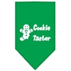 Mirage Pet Products Cookie Taster Screen Print Bandana Emerald Green Large