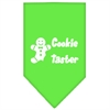 Mirage Pet Products Cookie Taster Screen Print Bandana Lime Green Large