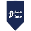 Mirage Pet Products Cookie Taster Screen Print Bandana Navy Blue Small