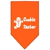 Mirage Pet Products Cookie Taster Screen Print Bandana Orange Large