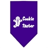 Mirage Pet Products Cookie Taster Screen Print Bandana Purple Large