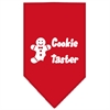 Mirage Pet Products Cookie Taster Screen Print Bandana Red Large
