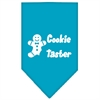 Mirage Pet Products Cookie Taster Screen Print Bandana Turquoise Large