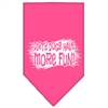 Mirage Pet Products Dirty Dog Screen Print Bandana Bright Pink Large