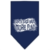 Mirage Pet Products Dirty Dog Screen Print Bandana Navy Blue large