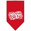 Mirage Pet Products Dirty Dog Screen Print Bandana Red Large
