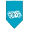 Mirage Pet Products Dirty Dog Screen Print Bandana Turquoise Small