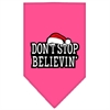 Mirage Pet Products Dont Stop Believin Screen Print Bandana Bright Pink Small