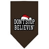 Mirage Pet Products Dont Stop Believin Screen Print Bandana Cocoa Large