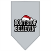 Mirage Pet Products Dont Stop Believin Screen Print Bandana Grey Small