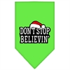 Mirage Pet Products Dont Stop Believin Screen Print Bandana Lime Green Large