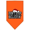 Mirage Pet Products Dont Stop Believin Screen Print Bandana Orange Small