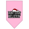 Mirage Pet Products Dont Stop Believin Screen Print Bandana Light Pink Large
