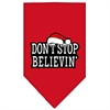 Mirage Pet Products Dont Stop Believin Screen Print Bandana Red Small