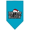 Mirage Pet Products Dont Stop Believin Screen Print Bandana Turquoise Large