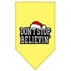 Mirage Pet Products Dont Stop Believin Screen Print Bandana Yellow Large