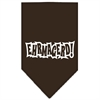 Mirage Pet Products Ehrmagerd Screen Print Bandana Cocoa Large