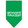 Mirage Pet Products Ehrmagerd Screen Print Bandana Emerald Green Large