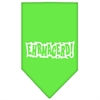 Mirage Pet Products Ehrmagerd Screen Print Bandana Lime Green Large