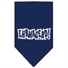 Mirage Pet Products Ehrmagerd Screen Print Bandana Navy Blue Small