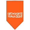 Mirage Pet Products Ehrmagerd Screen Print Bandana Orange Large