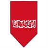 Mirage Pet Products Ehrmagerd Screen Print Bandana Red Large
