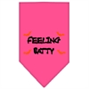Mirage Pet Products Feeling Batty Screen Print Bandana Bright Pink Small
