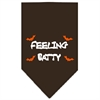 Mirage Pet Products Feeling Batty Screen Print Bandana Cocoa Large
