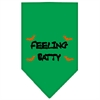 Mirage Pet Products Feeling Batty Screen Print Bandana Emerald Green Large