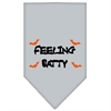 Mirage Pet Products Feeling Batty Screen Print Bandana Grey Large