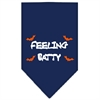 Mirage Pet Products Feeling Batty Screen Print Bandana Navy Blue Small