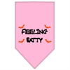 Mirage Pet Products Feeling Batty Screen Print Bandana Light Pink Small