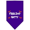 Mirage Pet Products Feeling Batty Screen Print Bandana Purple Small