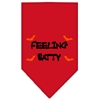 Mirage Pet Products Feeling Batty Screen Print Bandana Red Large