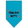 Mirage Pet Products Feeling Batty Screen Print Bandana Turquoise Large