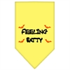 Mirage Pet Products Feeling Batty Screen Print Bandana Yellow Large
