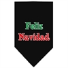 Mirage Pet Products Feliz Navidad Screen Print Bandana Black Small