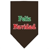 Mirage Pet Products Feliz Navidad Screen Print Bandana Cocoa Small