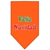 Mirage Pet Products Feliz Navidad Screen Print Bandana Orange Large
